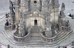 La colonna della trinità santa in Olomouc (particolare) immagine stock