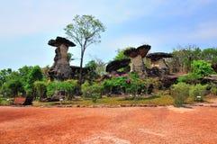 La colonna di pietra gradisce il fungo Fotografia Stock Libera da Diritti