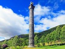La colonna di saga nella valle del fiume Bøvra Fotografie Stock Libere da Diritti