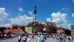 La colonna di Sigismund a Varsavia fotografia stock