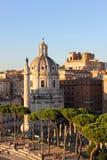 La colonna di Traiano e Santa Maria di Loreto, Roma Immagini Stock Libere da Diritti