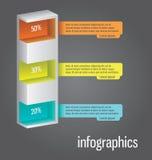 La colonna gradisce il diagramma, può essere usata per il infographics, elem dei siti Web illustrazione vettoriale
