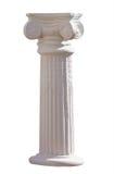 La colonna ionica ha isolato Fotografia Stock