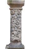 La colonna storica - isolata su bianco Fotografie Stock