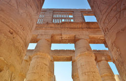 La colonne thebes de temple de série de karnak de l'Egypte Louxor Égypte Photos libres de droits