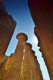 La colonne thebes de temple de série de karnak de l'Egypte Louxor Égypte Photographie stock libre de droits