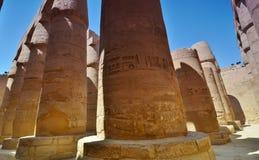La colonne thebes de temple de série de karnak de l'Egypte Louxor Égypte Image libre de droits