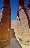 La colonne thebes de temple de série de karnak de l'Egypte Louxor Égypte Photographie stock