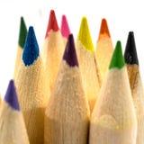 La coloration crayonne le macro images stock