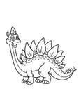 La coloritura pagina il dinosauro Fotografia Stock Libera da Diritti