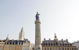 La columna de la diosa (Lille Francia del norte) Foto de archivo