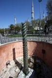 La columna de la serpiente Imagen de archivo libre de regalías