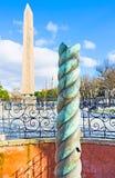 La columna de la serpiente Foto de archivo libre de regalías