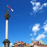 La columna Varsovia de Sigismund Foto de archivo