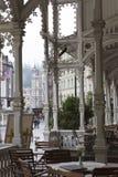 La columnata de Sadova ColonnadeGarden, final del siglo XIX, Karlovy varía Carlsbad, República Checa Imagenes de archivo