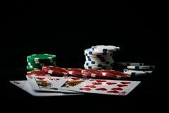 La combinazione di poker delle carte da gioco fotografia stock