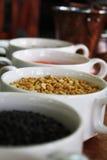 La comida cocinada en el restaurante Imagen de archivo
