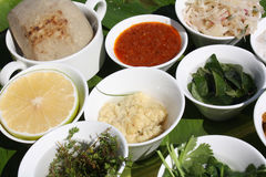 La comida cocinada en el restaurante Imagen de archivo libre de regalías