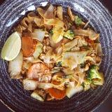 La comida come el thaifood de los tallarines foto de archivo libre de regalías