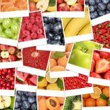 La comida da fruto fondo con la fruta de la manzana, naranjas, limones Foto de archivo libre de regalías