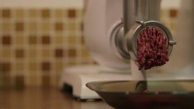 La comida de la máquina para picar carne metrajes
