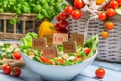 La comida de mirada agradable puede tener preservativos Fotos de archivo