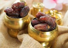 La comida del Ramadán fecha la fruta.