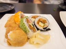 La comida deliciosa - cocina japonesa Imagen de archivo