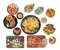 La comida es sagrada en el Año Nuevo chino, tal como pescados, cerdo, shri Imagenes de archivo