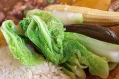 Verdura en comida tailandesa Imagen de archivo libre de regalías