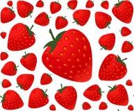 La comida y la bebida coloridas vector el modelo inconsútil con las fresas Fotografía de archivo libre de regalías