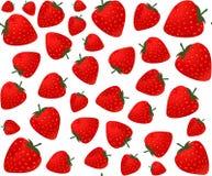 La comida y la bebida vector el modelo inconsútil con las fresas Fotografía de archivo libre de regalías