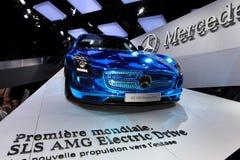 La commande électrique de Mercedes SLS AMG Image libre de droits