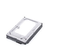 La commande de disque dur est le stockage de données pour l'ordinateur de données numériques sur la technologie blanche de disque Images libres de droits