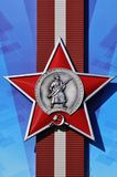 La commande rouge soviétique d'étoile photo stock