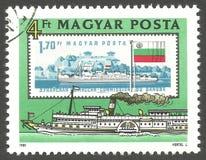 La Commission de Danube, Paddlesteamer Zsofia Photos stock