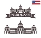 La Commonwealth de Pennsylvania Capitolio del estado de Pennsylvania en Harrisburg libre illustration