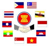 La communauté économique d'ASEAN de l'AEC Photos libres de droits