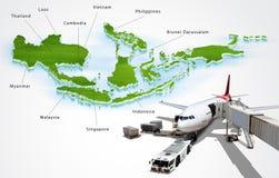 La communauté économique d'ASEAN, l'AEC Image stock