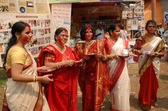 La Communauté bengali chez Durga Festival Photographie stock libre de droits