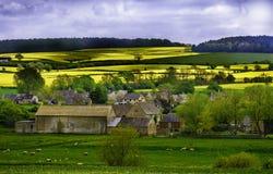 La communauté d'exploitation agricole de Cotswolds, Angleterre image stock