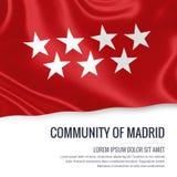 La Communauté espagnole d'état du drapeau de Madrid illustration stock