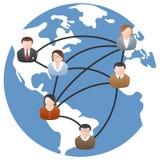 Le réseau de transmission du monde illustration libre de droits