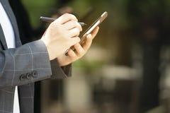 La communication avanc?e effectuent des transactions faciles avec les syst?mes sociaux de mise en r?seau image stock