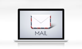La communication de courrier marque avec des lettres le concept de courrier de message illustration de vecteur