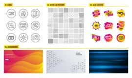 La communication de disque vinyle, de téléphone et les ventes diagram des icônes Les statistiques, le commentaire et l'enquête de illustration stock