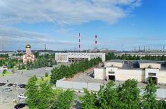 La compañía Uralvagonzavod del edificio de la máquina Fotos de archivo