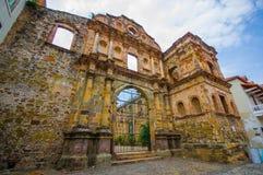 La Compania church in casco viejo district, in Stock Images