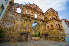 La Compania church in casco viejo district, in Royalty Free Stock Photography