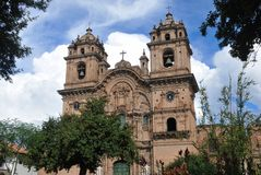 La Compania de Jesus Church in Cusco, Peru Stock Photo